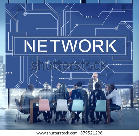 Network Internet Online Technology Future Concept - stock photo