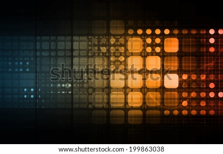Network Monitoring of Internet Traffic Data as Art - stock photo
