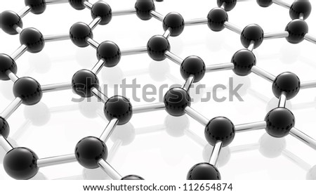 network of molecules with black metal compounds