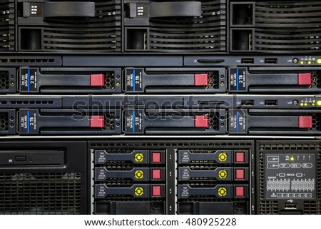 Network panel, switch in data center
