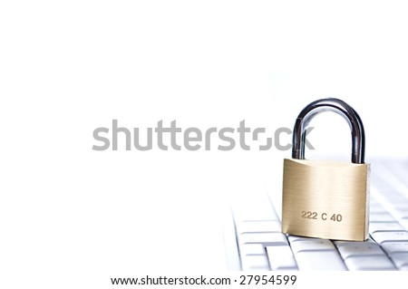 Network Security conception. With copyspace - stock photo