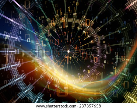 Network series. Backdrop of connected abstract elements on the subject of networking, science, education and modern technology - stock photo