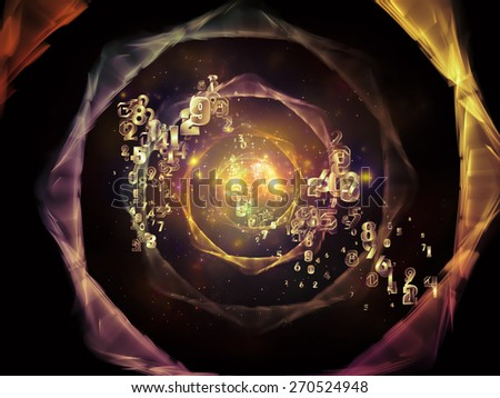 Network series. Composition of connected abstract elements suitable as a backdrop for the projects on networking, science, education and modern technology - stock photo