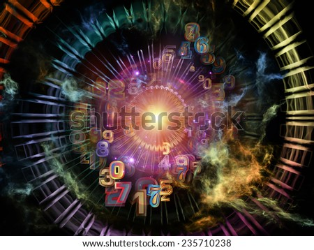 Network series. Creative arrangement of connected abstract elements as a concept metaphor on subject of networking, science, education and modern technology