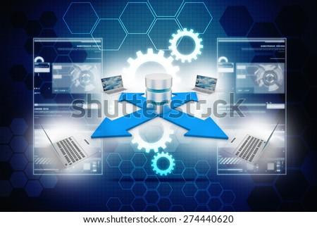 Network server computers - stock photo