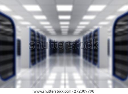 Network Server, Data, Center. - stock photo