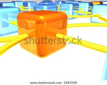 network servers - stock photo