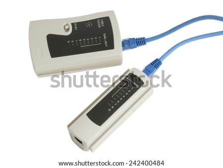 Network tester on white background
