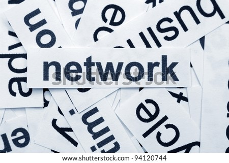 network word cloud - stock photo