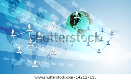 Networking and Digital Technology concept background