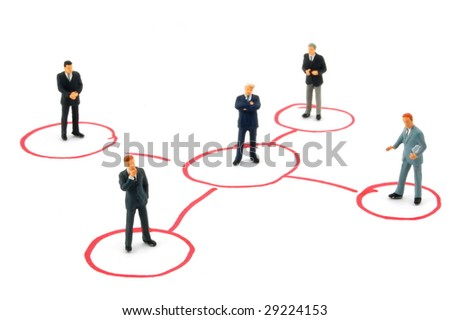 networking business man isolated on white background