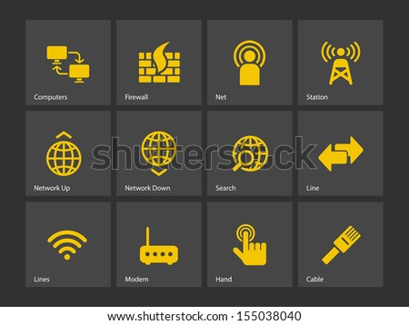 Networking icons. See also vector version. - stock photo