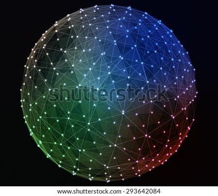 Networks. Globe design. Abstract digital illustration. - stock photo