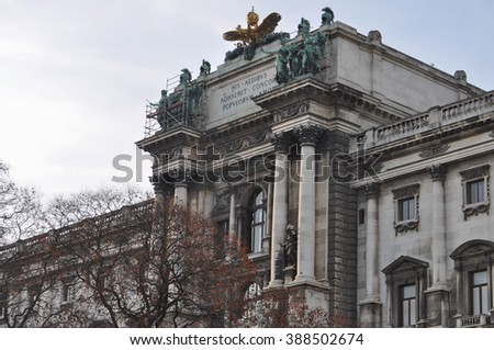 Neue Burg at the Hofburg Palace former imperial palace in Wien, Austria - stock photo