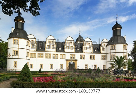 Neuhaus Castle, former residence of bishop princes, is quite a famous Renaissance castle in North Rhine-Westphalia