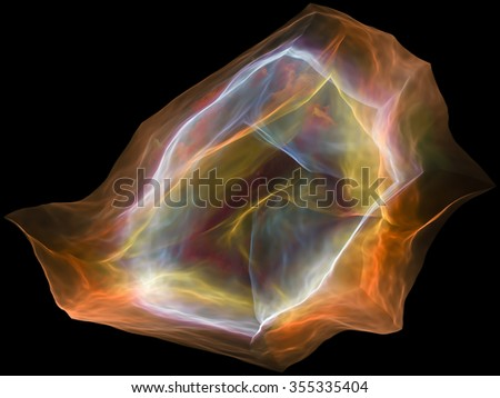 Neural Paperweight series. Artistic background made of abstract shapes, colors and elements for use with projects on mind, virtual reality, technology, science and design - stock photo