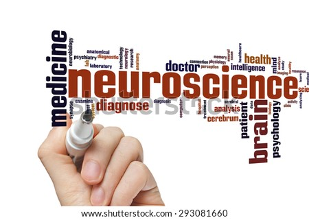 Neuroscience concept word cloud background  - stock photo