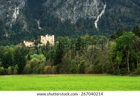 Neuschwanstein Castle, Bavaria, Germany, Europe - stock photo
