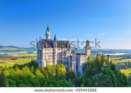 Neuschwanstein Castle, Fussen, Germany - stock photo