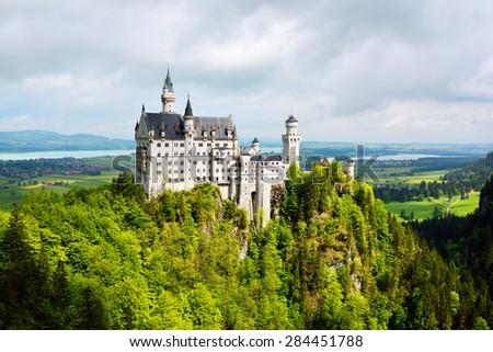 Neuschwanstein Castle, Germany - stock photo