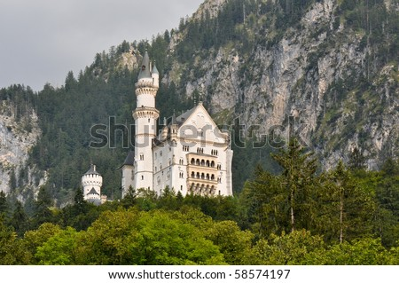 Neuschwanstein Castle in Bavaria Germany - stock photo
