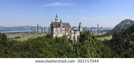 Neuschwanstein Castle in Bayern region