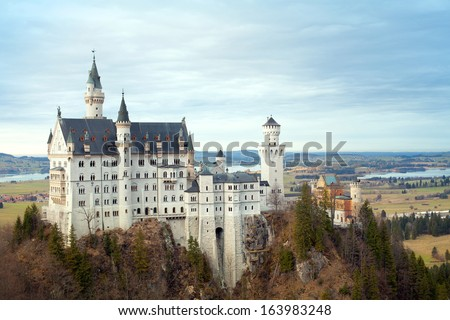 Neuschwanstein castle panorama