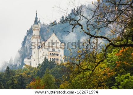 Neuschwanstein Castle Sight seeing - stock photo