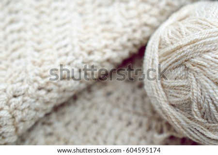 Neutral crocheted background