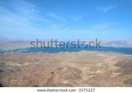 Nevada from up high 5 - stock photo