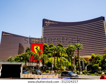 NEVADA LAS VEGAS AUG,2015 : DOWNTOWN CITY WYNN AND ENCORE HOTEL CASINO