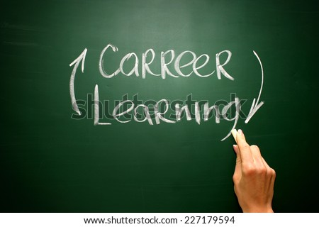 Never ending learning helps build career - stock photo