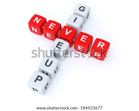 Never give up crosswords