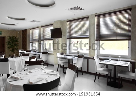 new and clean luxury restaurant in european style