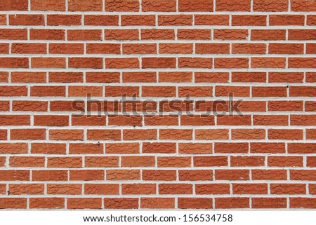 New and Clean Red Brick Wall  - stock photo