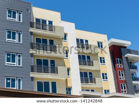 New apartment building in California - stock photo