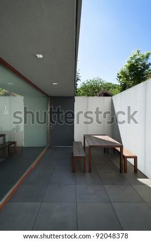 new architecture modern , veranda - stock photo