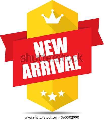 New arrival label and sign. - stock photo