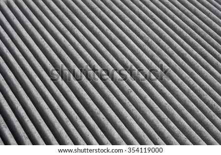New automotive air conditioner carbon filter, structure, selective focus, background