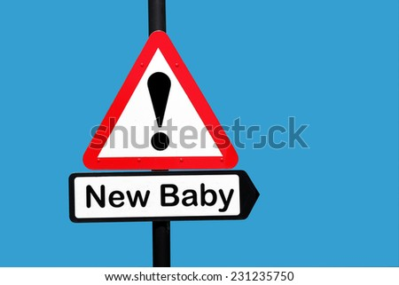 new baby sign - stock photo