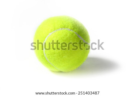 new ball for game on the tennis court
