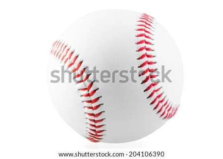 new ball for the game of baseball on a white background - stock photo