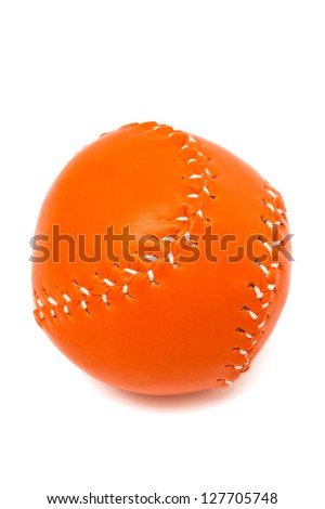 New baseball ball on a white background - stock photo