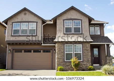 New family house stock photo 208264867 shutterstock for American family homes