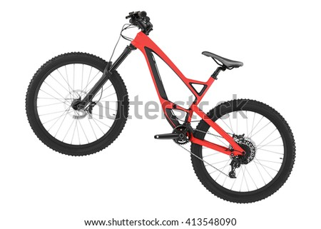 New bicycle isolated on a white background. - stock photo