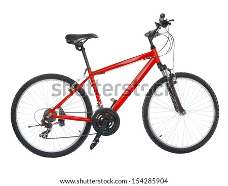 New bicycle isolated on a white background. High resolution (stitched from five shoots)  - stock photo