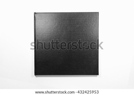 New black notebook for writing on isolated white background: Idea use for writing text and messages.