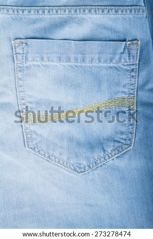 New blue jeans isolated on white background