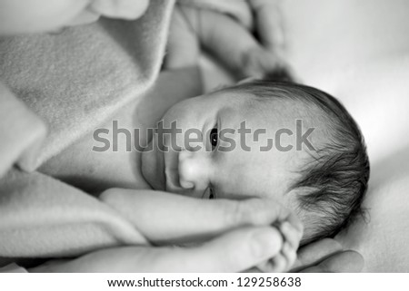 New born baby - stock photo