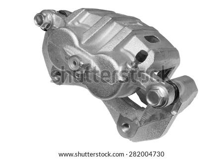 New Brake Caliper on a white background - stock photo